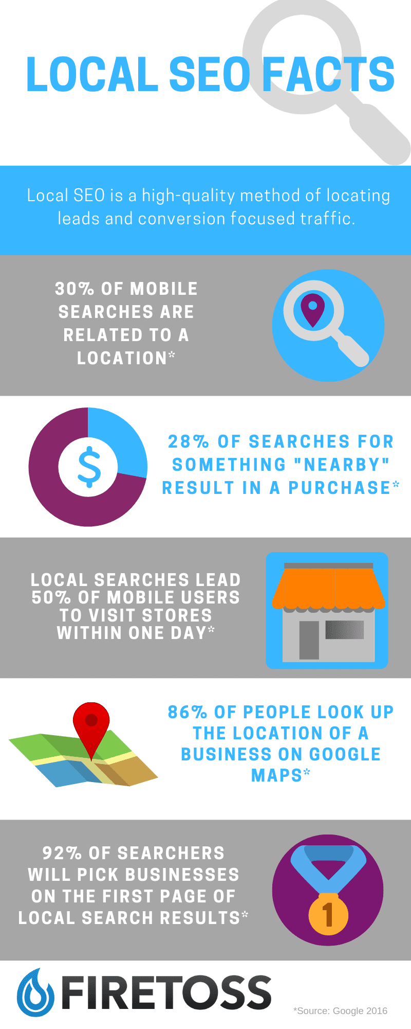 Local SEO guide facts infographic
