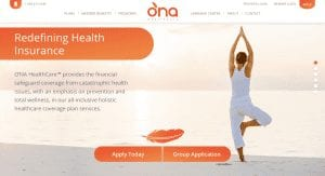 O'NA HealthCare™ website homepage