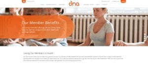 O'NA HealthCare Member Benefits page