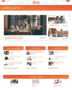 O'NA HealthCare website blog page