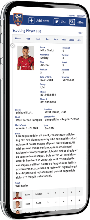 RSL Mobile Website