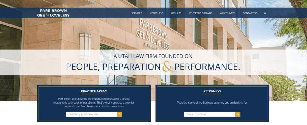 Parr Brown Website Header
