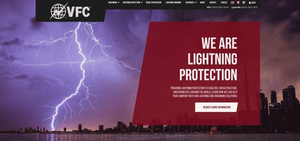 VFC website homepage
