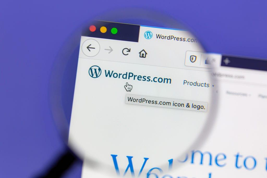 WordPress on the computer screen used by the professional WordPress SEO company Firetoss