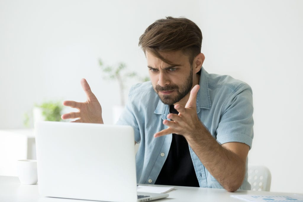 man angry at Google rankings and needs Google penalty recovery