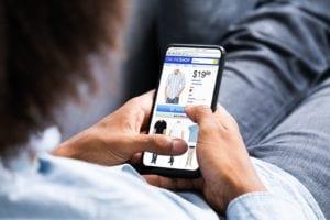 eCommerce shopping on mobile phone